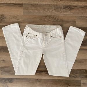 Madewell Real Straight Leg White Jeans